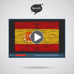 Concept of learning languages. Study Spanish.
