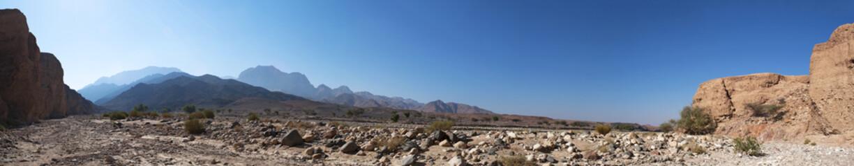 Medio Oriente, 10/03/2013: le montagne e il paesaggio deserto della Riserva Biosfera di Dana, la più grande riserva naturale della Giordania, a Petra