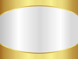 Abstract gold and silver background with metallic
