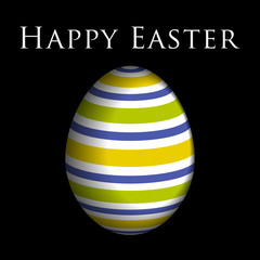greeting card, colored Easter egg and text