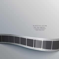 gray background with film strip