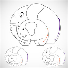 Nursing Animal Cartoon, Vector and illustration, EPS 10.