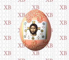 Пасхальное яйцо с ликом Христа.