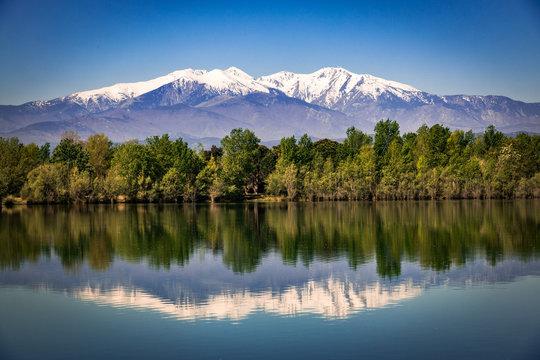 Mountain reflections Canigou