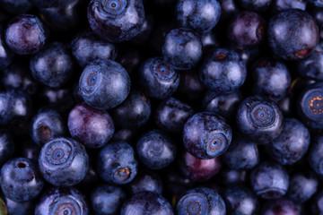 Organic blueberries background