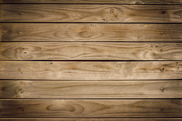 Old brown wooden wall, detailed background photo texture. Wood plank fence close up.