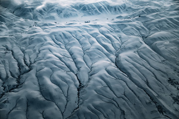 Wall Mural - Aerial view from air plane of snow mountains