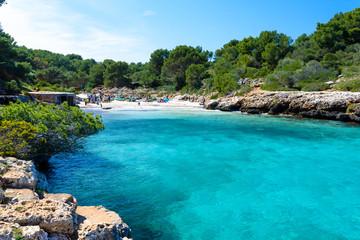 Fototapete - Cala Sa Nau - beautiful bay and beach on Mallorca, Spain - Europe