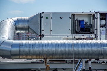 Air Handling Unit for the central ventilation system on the roof of the mall Wall mural