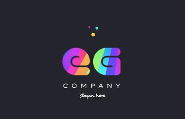 eg e g  colored rainbow creative colors alphabet letter logo icon