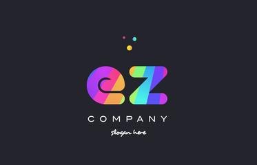 ez e z  colored rainbow creative colors alphabet letter logo icon