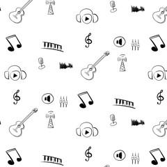 Internet Radio pattern black and white