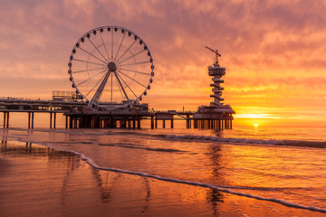 Scheveningen at sunrise