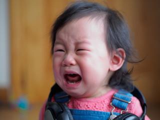 angry baby girl crying