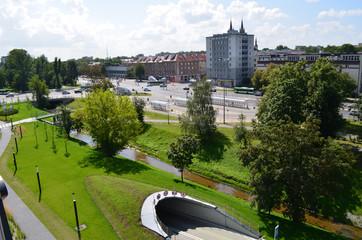 Białystok latem o poranku/Bialystok in the summer morning, Podlasie, Poland