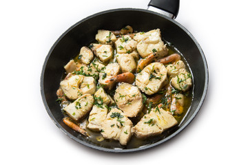 Zuppa di pesce misto e gamberi