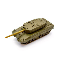Toy tank isolated on white background