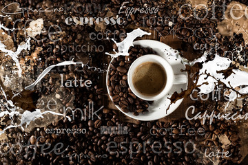 Background of cup of coffee