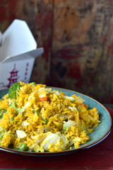 Chinese takeout food fried rice