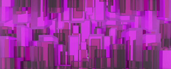 Pink digital background. 3D illustration.
