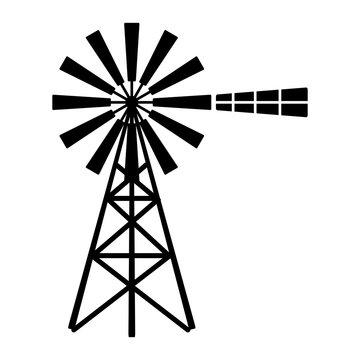 windmill logo vector.