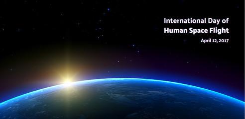 International day of human space flight. Big dipper and little dipper.