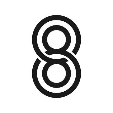 88 logo vector. template vector.