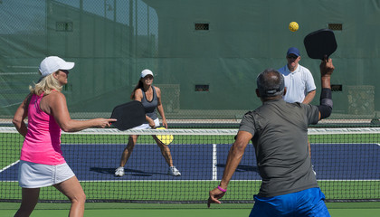 Pickleball Action - Mixed Doubles