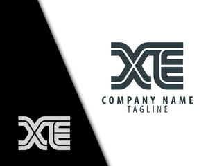 Initial Letter XE With Linked Circle Logo