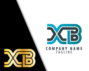 Initial Letter XB With Linked Circle Logo