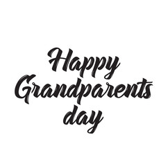 happy grandparents day, text design. Vector calligraphy. Typography poster.