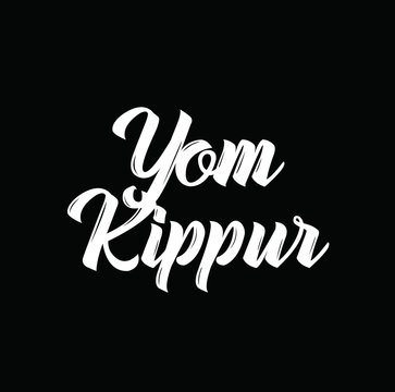 yom kippur, text design. Vector calligraphy. Typography poster.