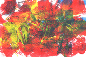 Abstract acrylic for background. Hand draw acrylic texture.