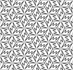 Snowflakes. Simple lattice vector pattern.
