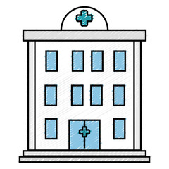 hospital building isolated icon