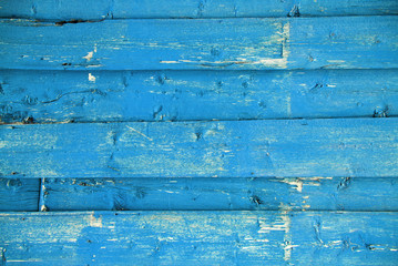 Blue Wooden Background With Copy Space