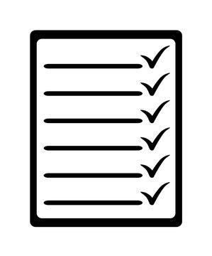 papierowa lista ikona