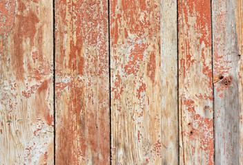 Vintage old wood background texture with knots.