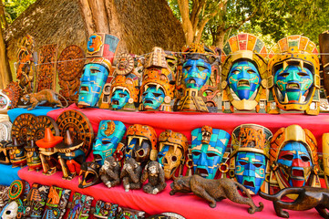 Authentic handcraft souvenirs of maya civilisation