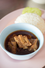 steamed pork ribs with rice