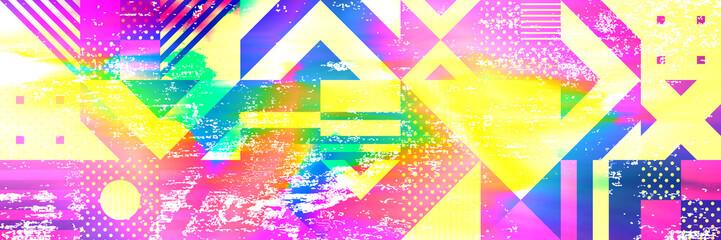Colourful glitch abstract background