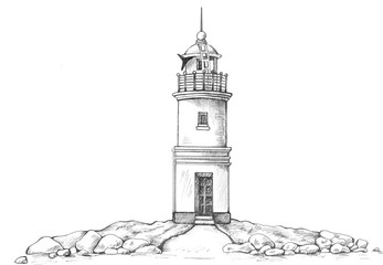 Tokarevskiy lighthouse in Vladivostok.