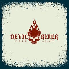 Devil rider label
