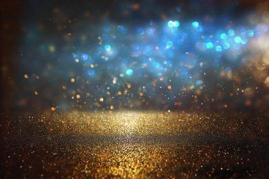 glitter vintage lights background. de-focused.