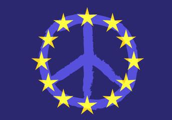 Europe - Paix - Drapeau - union européenne - symbole - logo