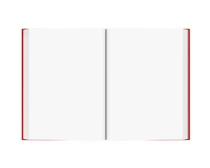 Open Blank Book Isolated