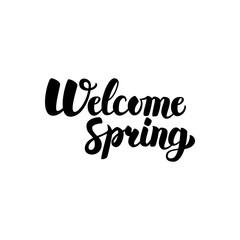 Welcome Spring Handwritten Lettering