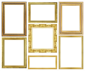 collection of vintage Gold wood sculpture picture frame