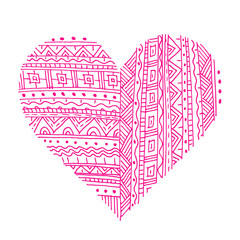Pink Love symbol with abstract pattern