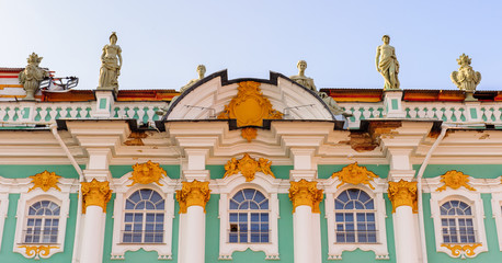 Part of the Hermitage, Winter Palace, St. Petersburg, Russia